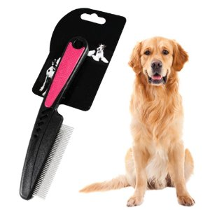 Escova Pente Antipulgas Profissional p/ Cachorro Petshop*