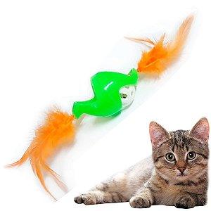 Bolinha de Gatos Crazy Colorida com Guizo e Penas