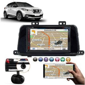 Kit Central Multimidia Nissan Kicks + Espelhamento Tv Gps Bt