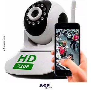 Camera Ip Robo P2p Visão Noturna Wireless Wifi SemFio 720hd*
