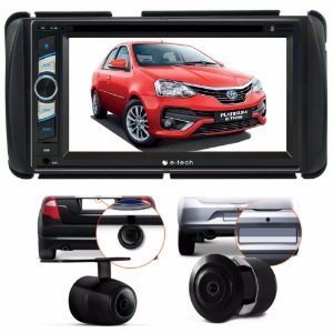 Kit Dvd Central Multimidia Toyota Etios + Moldura + Brinde