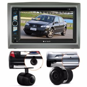 Kit Dvd Central Multimidia Megane + Moldura 2 Din + Brinde