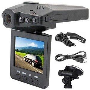 Câmera Filmadora Segurança Automotiva Dvr Hd Tela 2,5 Lcd