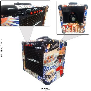 Cubo Amplificador Guitarra Mackintec Maxx15 Beer