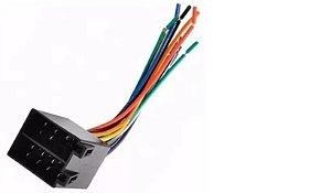 Plug 16 Vias Macho - Com Chicote E Conector- Som Automotivo
