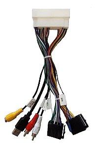 Plug Chicote Conector De Som Hyundai Creta Completo Usb Aux