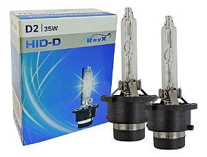 Kit par Lâmpada Rayx Xenon D D2s 5500k 35w 12v luz branca