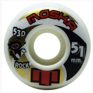 RODA MOSKA ROCK 51MM 53D. BRANCO