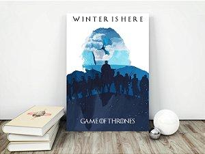 Placa Decorativa Game of Thrones - Winter is Here