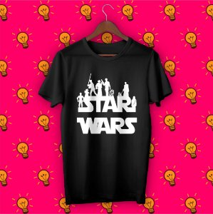 Camiseta Star Wars - Silhuetas