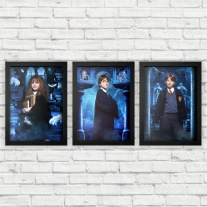 Kit Quadros Decorativos Harry Potter e a Pedra Filosofal