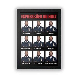 Quadro Brooklyn 99 - Expressões do Holt