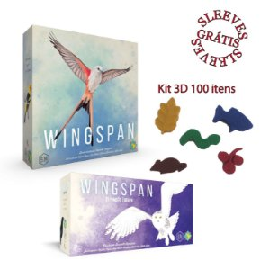 Wingspan + Exp. Europa + Kit 3D + Sleeves (Pré-venda)