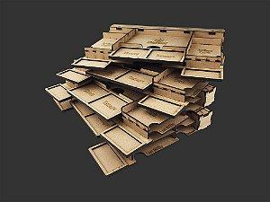 Kit Dashboard para Gloomhaven (4 Unidades) - SEM CASE -  (Versão Galápagos) - Pré-venda