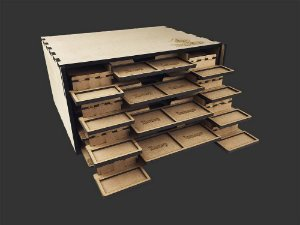 Kit Dashboard para Gloomhaven (4 Unidades) - COM CASE -  (Versão Galápagos) - Pré-venda