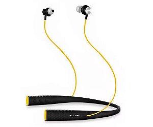 Fone de Ouvido Bluetooth Rubber Arco  Preto e Amarelo Pulse PH240