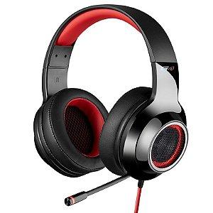 Headphone Gamer 7.1 Over-Ear Edifier G4 Preto e Vermelho