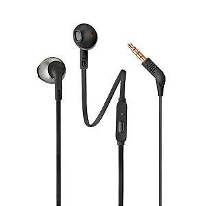 Fone de ouvido intra auricular JBL T205 Preto
