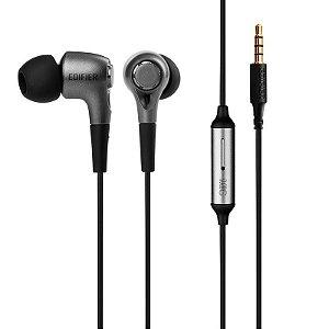 Fone de Ouvido com microfone Edifier P230 Chumbo e Preto