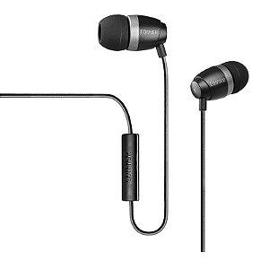 Fone De Ouvido  Com Microfone Para Celular Edifier P210 Preto/Cinza