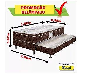 Cama Bibox Solteiro Mola (colchão Acoplado Na Base)