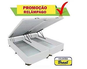 Cama Box Baú Bipartida Casal (base) 138x188x46