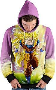 Blusa de Frio Moletom Goku Super Sayajin 3