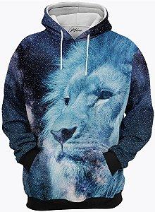 Blusa de Frio Moletom Leão Azul