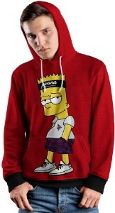 Blusa de Frio Moletom Bart Simpsons Top