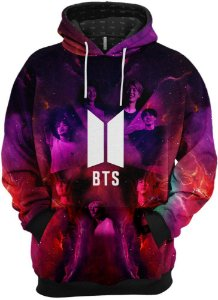 Blusa de Frio Moletom Grupo BTS Boy With Luv
