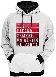 Blusa de Frio Moletom Jesus Unigênito e Salvador