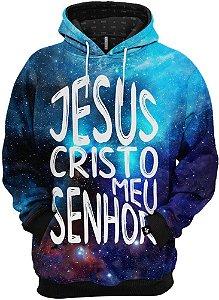 Blusa de Frio Moletom Gospel Jesus Cristo meu Senhor