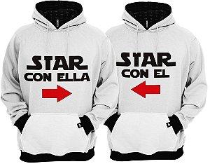 KIT 2 Blusas de Frio Moletom Star Con El