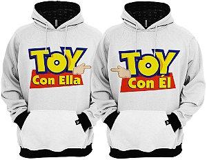 KIT 2 Blusas de Frio Moletom Toy Con Ella