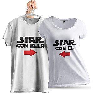 KIT 2 Camisetas Estamos Juntos
