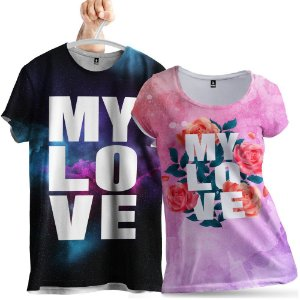 KIT 2 Camisetas My Love