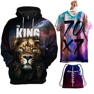KIT Moletom O Rei Está Chegando - Grátis Camisa e Bolsa V
