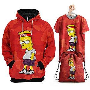 KIT Moletom Bart Simpson - Grátis Camisa e Bolsa