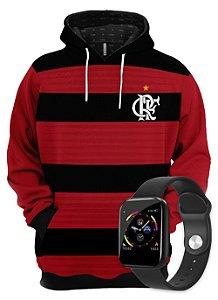 KIT Moletom Clube de Regatas do Flamengo e SmartWatch