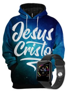 KIT Moletom Gospel Jesus Cristo e SmartWatch