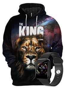 KIT Moletom O Rei Está Chegando e SmartWatch