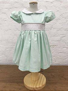 Vestido Casinha de Abelha Manga Princesa Tiffany Claro