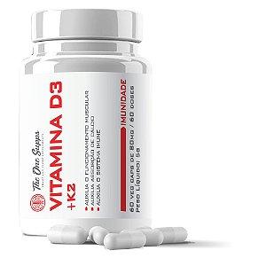 Vitamina D3 2000ui + K2 100mcg + Selênio 167mcg - 60 Veg Caps