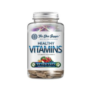 Healthy Vitamins® 90 Veg Caps - 60% Vitaminas Naturais
