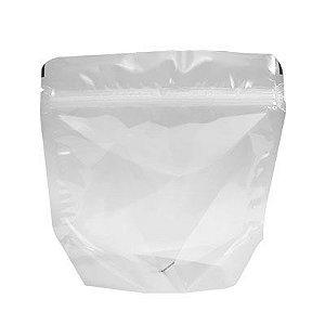 Embalagem Plástica Stand-up Pouch com zíper 13 x 13 cm - 50 unidades