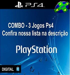 COMBO 3 JOGOS DE PS4