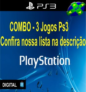 COMBO 3 JOGOS DE PS3