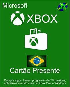 CARTÃO XBOX LIVE BRASIL - 25 DÍGITOS