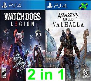 Watch Dogs Legion + Assassins Creed Valhalla - PS4