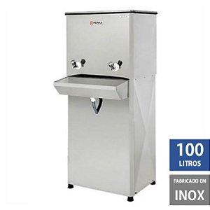 Bebedouro Industrial Elite 100 litros Coluna em Inox